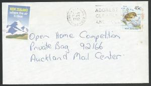 NEW ZEALAND 1992 cover TOURISM CINDERELLA, ................................13261
