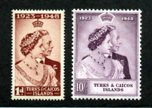 Turks & Caicos Islands - SG# 208 & 209 MNH   /    Lot 0121029