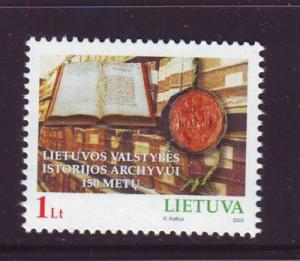 Lithuania Sc 719 2002 Historical Archives stamp mint NH