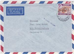 Rhodesia & nyasaland  printed matter  air mail stamps cover R20401