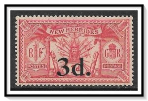 New Hebrides - British #40 Native Idols Surcharged MH