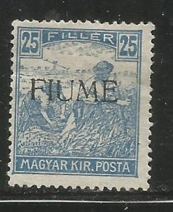 FIUME 10 HINGED NG, HUNGARIAN STAMPS OF 1916-1918, COLORED NUMERALS, OVERPRINTED