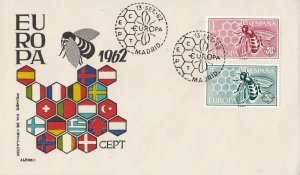 EU43) Spain 1962 - Europa Stamps On First Day Cover