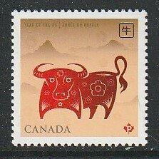 2009 Canada - Sc 2296 - MNH VF - 1 single - Lunar New Year - Ox