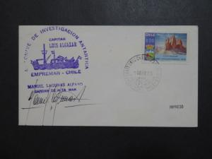 Chile 1985 LUIS ALCAZAR Antarctica Cover / Signed - Z9596