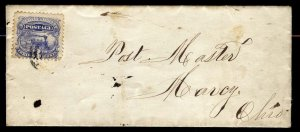 #114 3c Train....used on COVER - w/FREE SHIPPING