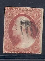 US #11 3c Washington- Imperf  (U) CV $15.00