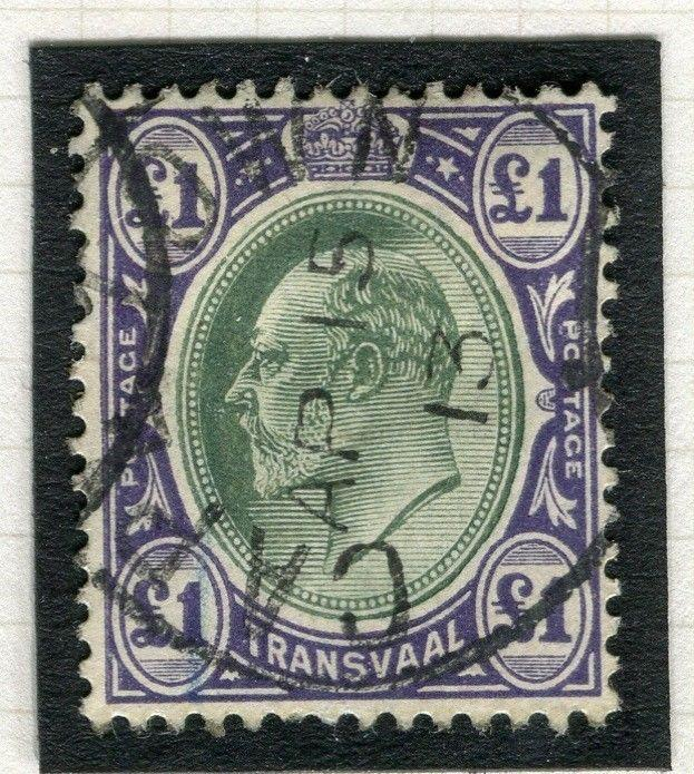 TRANSVAAL Interprovincial Period Ed VII CAPE TOWN Postmark on £1