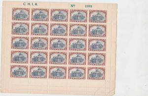Mexico 1923 National Theatre Mint Never Hinged Stamps Sheet Ref 28266