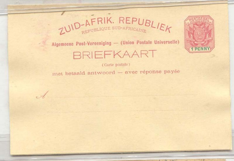 Sout Africa Transvaal #6 (whole postal stationary South Afri