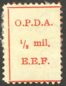 PALESTINE c1922 OPDA 1/2m Revenue P.11 Bale 70a Unused