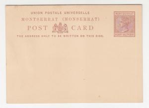 MONTSERRAT, Postal Card, QV 1885 1 1/2d. Brown, unused.