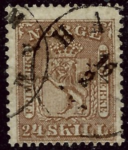 Norway 1863 Sc #10 Used Fine Cat $125...Great Value!