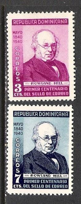 DOMINICAN REPUBLIC 356-7 MOG ROWLAND HILL S179