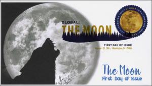 2016, The Moon, $1.20 Global, FDC, Digital Color Postmark, 16-054