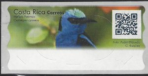Costa Rica ATM Stamp Label Without Value, Bird, Red-legged Honeycreeper MNH 2018