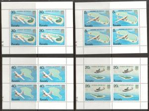 Tuvalu 118 - 121 - Internal Air Service. Blocks Of 4. MNH. OG. #02 TUVU118s
