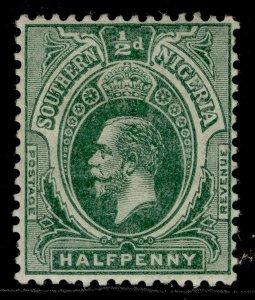 SOUTHERN NIGERIA GV SG45, ½d green, M MINT.