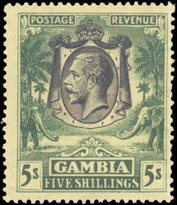Gambia #119, Incomplete Set, 1926, Royality, Never Hinged