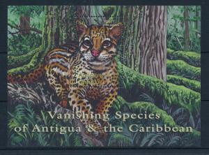 [32947] Antigua & Barbuda 2001 Wild Animals Mammals Ocelot MNH Sheet