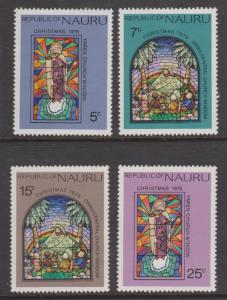 Nauru 1975 Christmas Set Sc#130-133 MNH