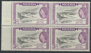 Nigeria  SG 82 SC# 94 Used  Centenary of Victoria 1958  Block of 4 MNH see scan