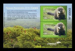 Costa Rica 2018 wild animals national park carara s/s MNH