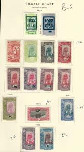 Somali Coast1922//1925 Page set F-VF MOG...Fill in vacant collection Spots!