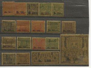 Bolivia  433-450 Set MH
