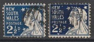 #100 New South Wales varities lot 191216-17