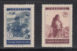 Timor    #256-57    mnh    cat $10.80