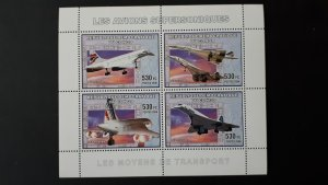 Aviation - Planes - Concorde - Congo 2006 - sheet+compl set of 4 ss perf ** MNH
