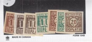 WW2: Polish POW Stamps, Gross-Born, Fisher Cat. #D1-D4, Var (27589)