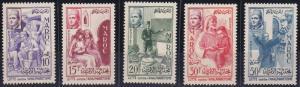 Morocco 8-12 MNH (1956)
