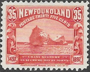 Newfoundland Scott Number 73 VF H