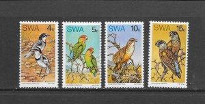 BIRDS - SOUTH WEST AFRICA #363-66  MNH
