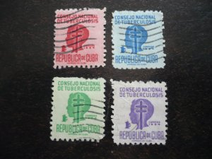 Stamps - Cuba - Scott# RA22-RA25 - Used Set of 4 Stamps