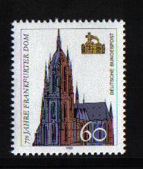 Germany  #1586 MNH 1989  Frankfurt Cathedral anniversary