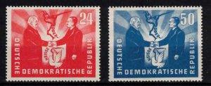 East Germany (DDR) - SGE41-E42 Mint, Presidents Pieck and Bierut - CV £54 ($69)
