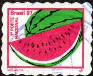 Brazil 2636B - Used - (22c) Watermelon (1997) (cv $2.35)