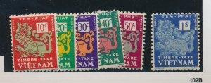 Vietnam Stamps Scott #J1 To J6, Mint Hinged - Free U.S. Shipping, Free Worldw...