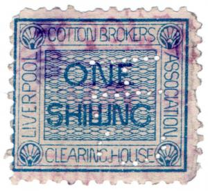 (I.B) Liverpool Cotton Association : Fee 1/- (1883)