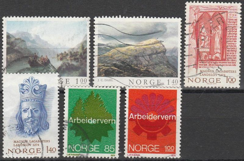 Norway #633-8 F-VF Used  CV $6.65  (A7548)