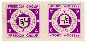 (I.B) Cinderella Collection : Strike Post 5/- (Freedom Group 1964)