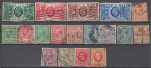 COLLECTION LOT OF #1073 GREAT BRITAIN 18 STAMPS 1912+ CV+$33