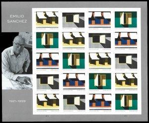 PCBstamps   US #5594/5597 Sheet $11.00(4x5x{55c})Emilio Sanchez, MNH, (9)