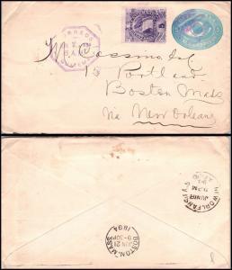 Goldpath: Guatemala postal stationery 1894, to U.S.A. VIA NEW ORLEANS  _CV23_P12