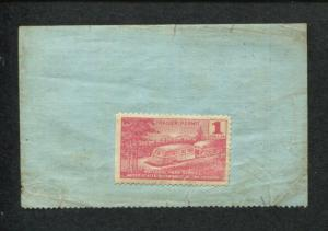 1939 US Department of Interior National Park Service Trailer Permit Stamp #RVT2