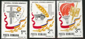 ROMANIA Scott 3012-14 MNH** Festival short set 1981