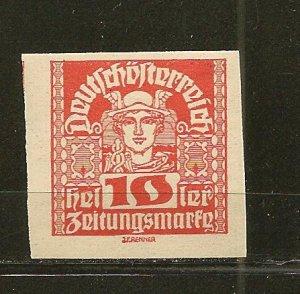 Austria P35 Newspaper Stamp Mint Hinged